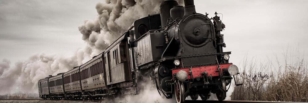 Fototapete mit Zügen
