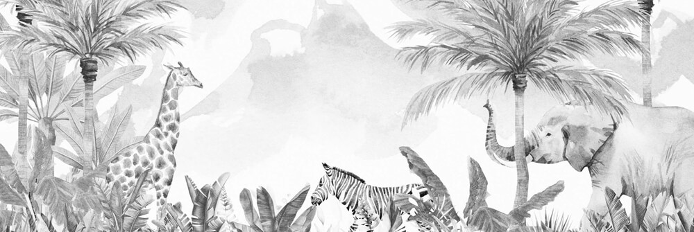 Dschungel Tapete für Kinder