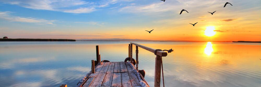 Fototapete von Seen und Gewässern