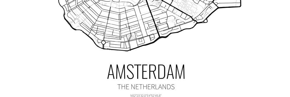 Stadtpläne und Landkarten auf Fototapete
