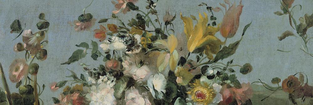 Tapete Stillleben mit Blumen