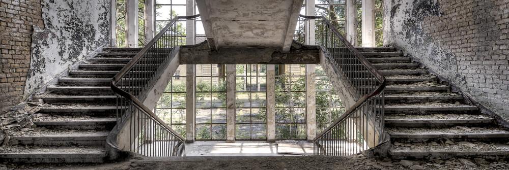 Fototapete Treppen oder Treppenhaus tapezieren
