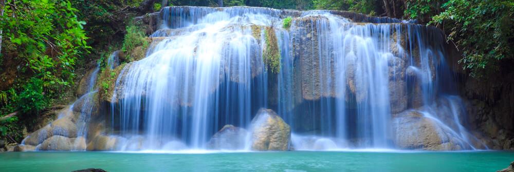Fototapete mit Wasserfall