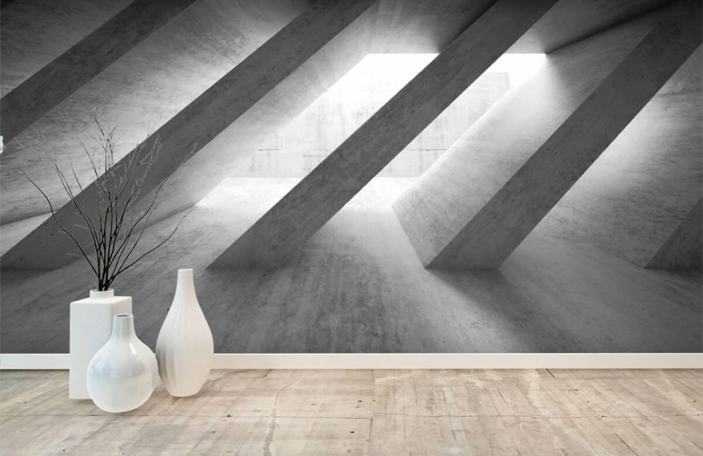 Andere Texturen und Oberflächen - Betonsäulen in 3D - Schlafzimmer 1