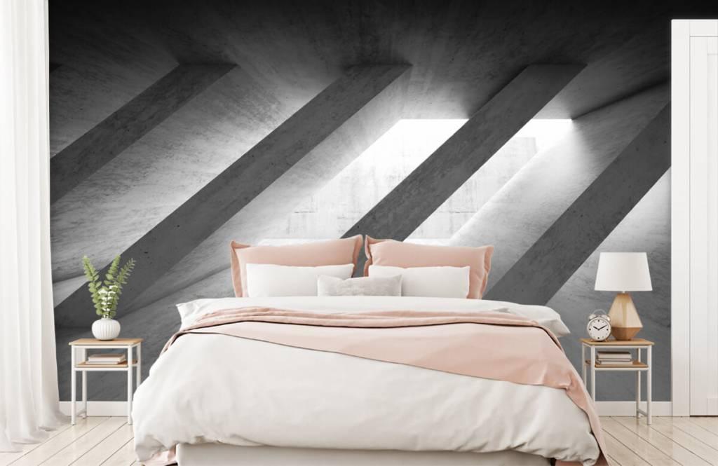 Andere Texturen und Oberflächen - Betonsäulen in 3D - Schlafzimmer 2