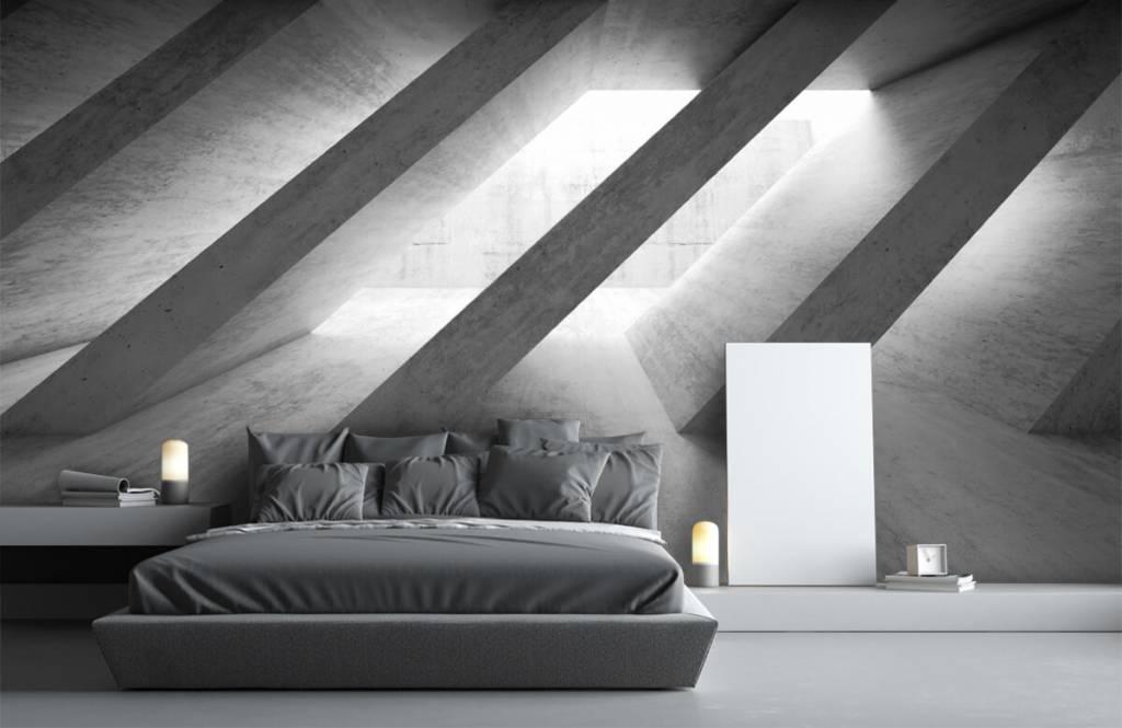 Andere Texturen und Oberflächen - Betonsäulen in 3D - Schlafzimmer 3