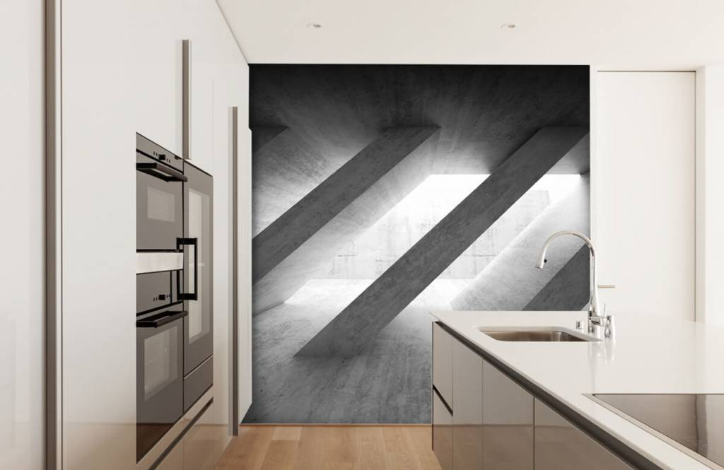 Andere Texturen und Oberflächen - Betonsäulen in 3D - Schlafzimmer 4