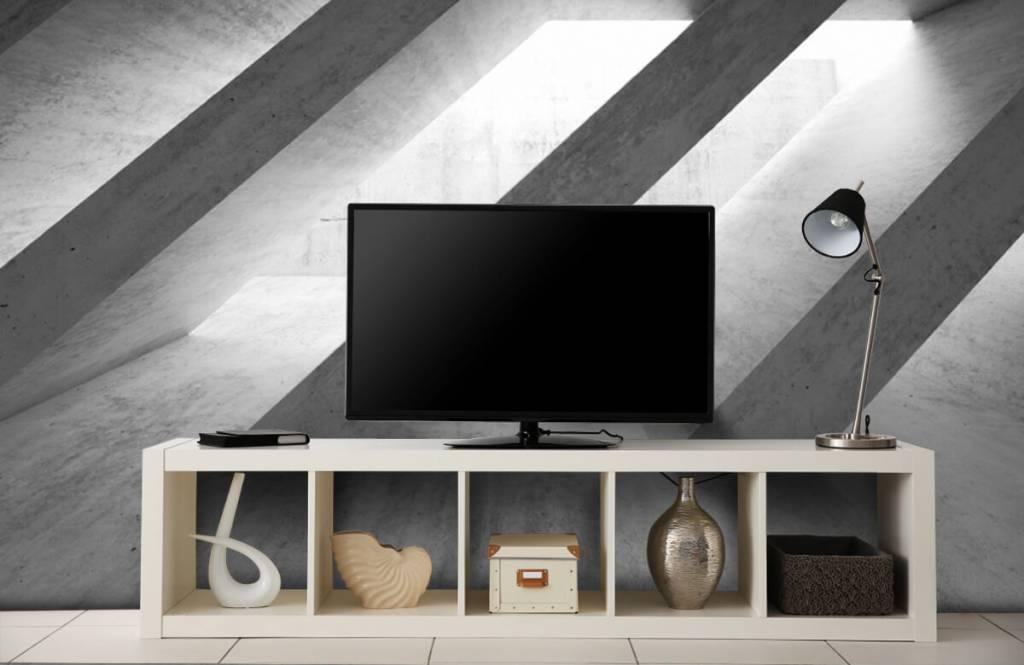 Andere Texturen und Oberflächen - Betonsäulen in 3D - Schlafzimmer 5