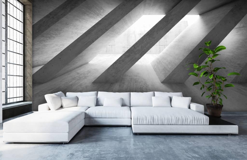 Andere Texturen und Oberflächen - Betonsäulen in 3D - Schlafzimmer 6