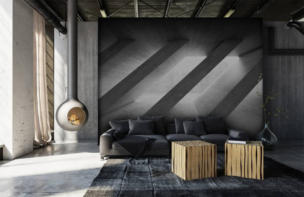 Andere Texturen und Oberflächen - Betonsäulen in 3D - Schlafzimmer 7