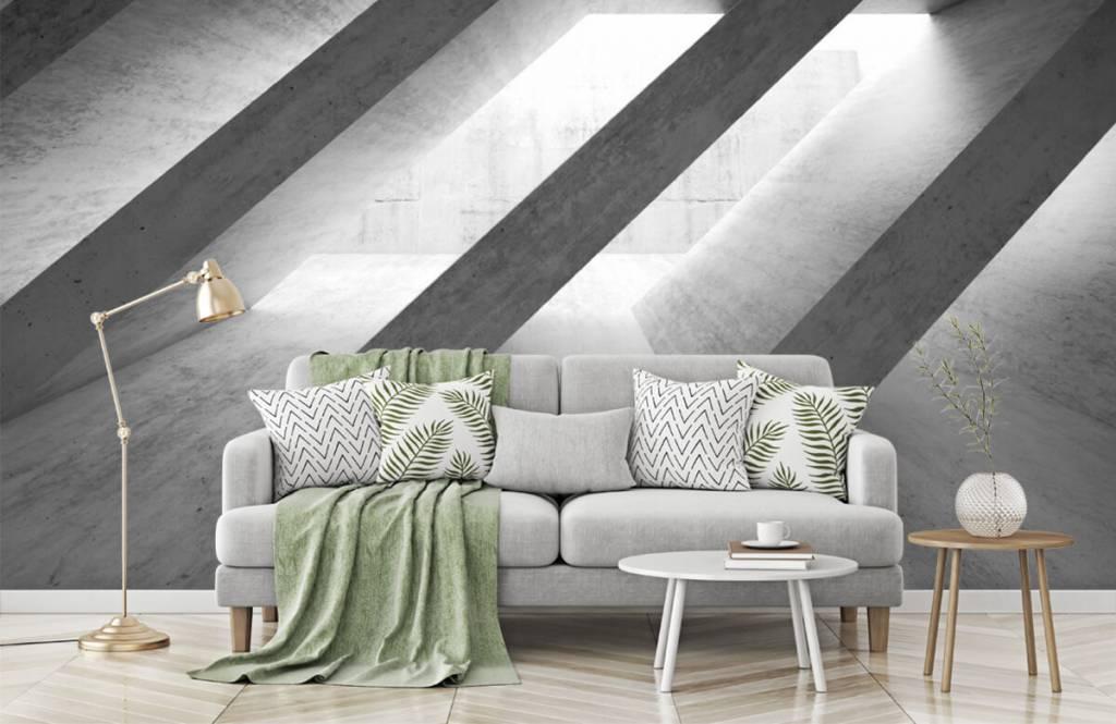 Andere Texturen und Oberflächen - Betonsäulen in 3D - Schlafzimmer 8