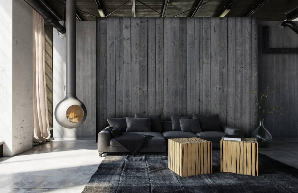 Holz Tapete - Holzplanken in 3D Optik - Schlafzimmer 2