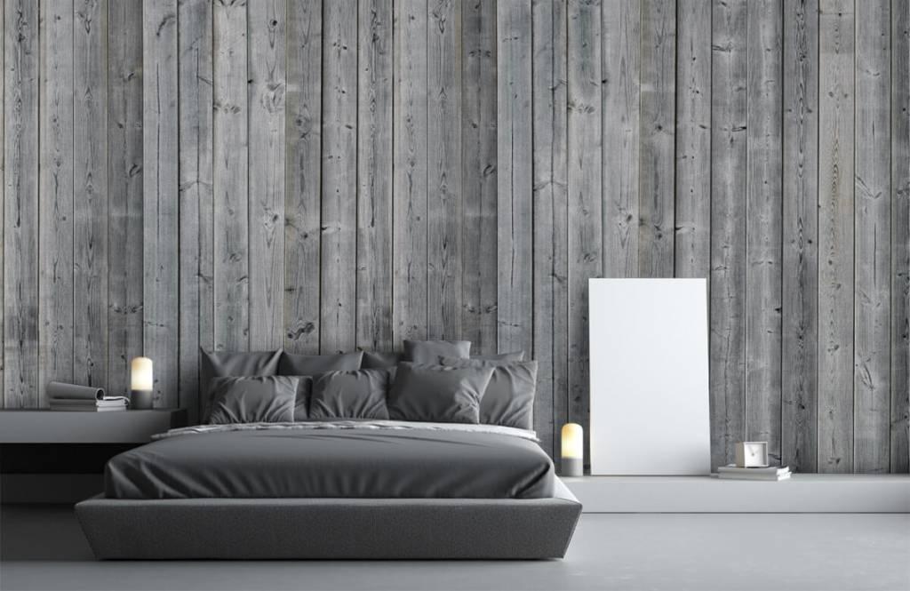 Holz Tapete - Holzplanken in 3D Optik - Schlafzimmer 4