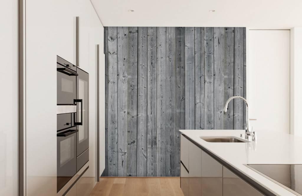 Holz Tapete - Holzplanken in 3D Optik - Schlafzimmer 5