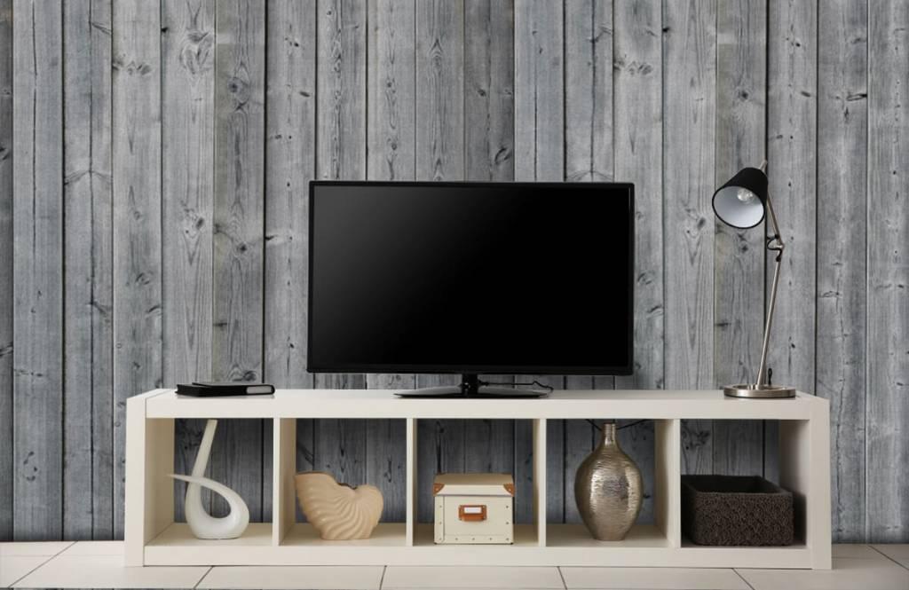 Holz Tapete - Holzplanken in 3D Optik - Schlafzimmer 6