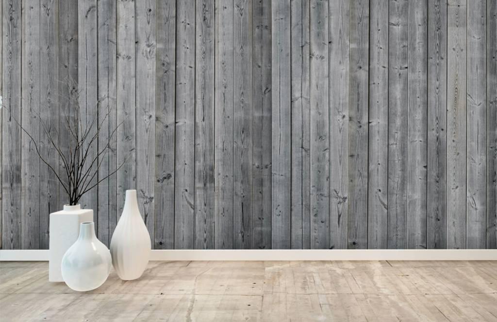 Holz Tapete - Holzplanken in 3D Optik - Schlafzimmer 8