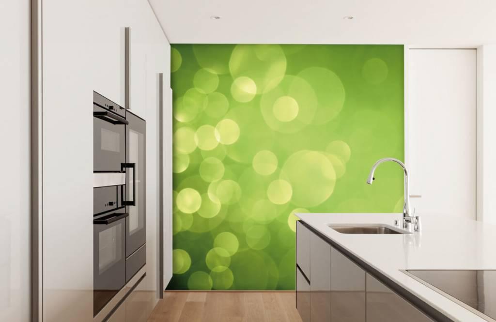 Abstrakte Tapete - Grüne Kreise - Empfangsbereich 4