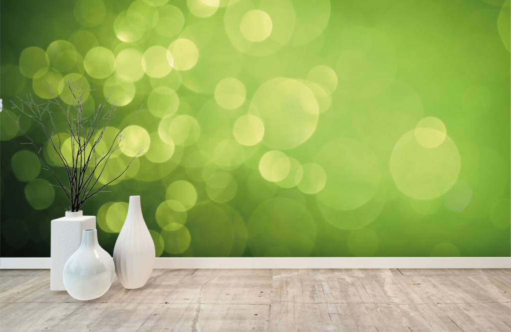 Abstrakte Tapete - Grüne Kreise - Empfangsbereich 7