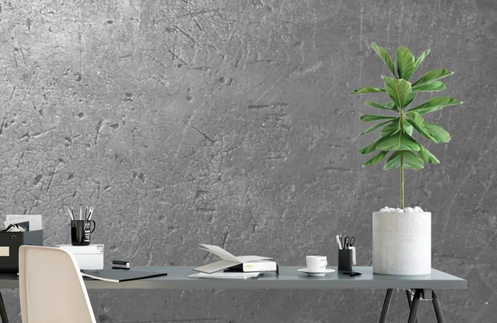 Betonoptik Tapete - Graue Betonmauer - Jugendzimmer 1