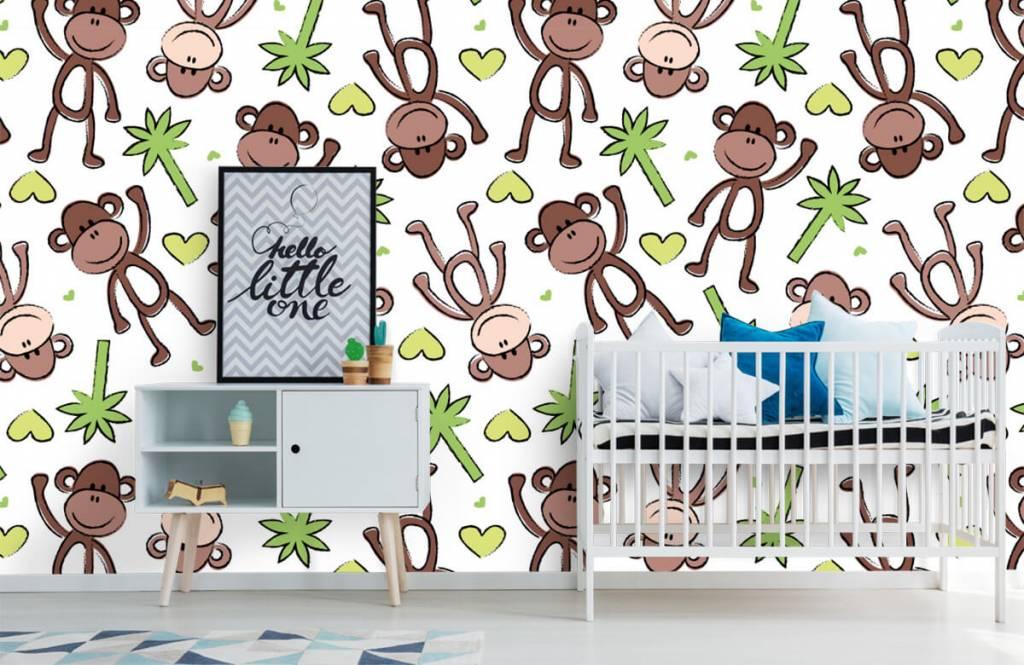 Wassertiere - Affen und Palmen - Kinderzimmer 1