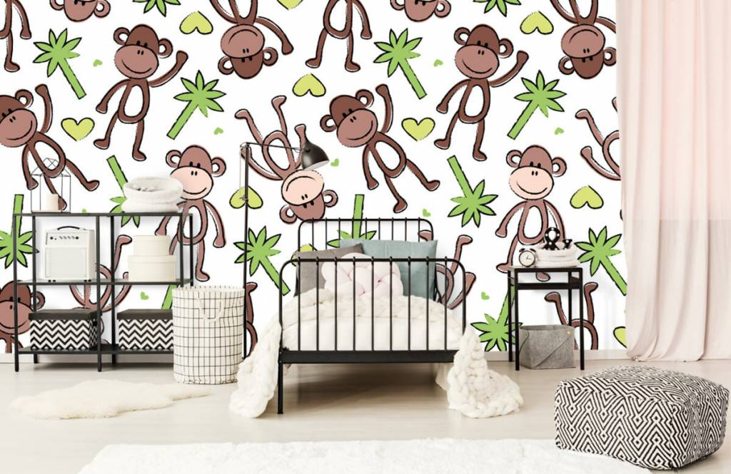 Wassertiere - Affen und Palmen - Kinderzimmer 2