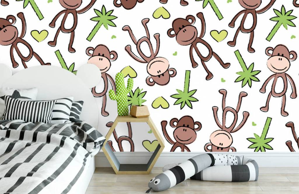 Wassertiere - Affen und Palmen - Kinderzimmer 3