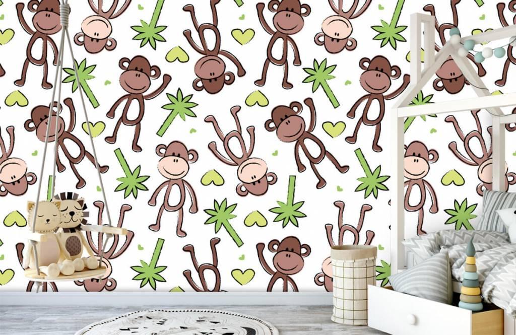Wassertiere - Affen und Palmen - Kinderzimmer 4