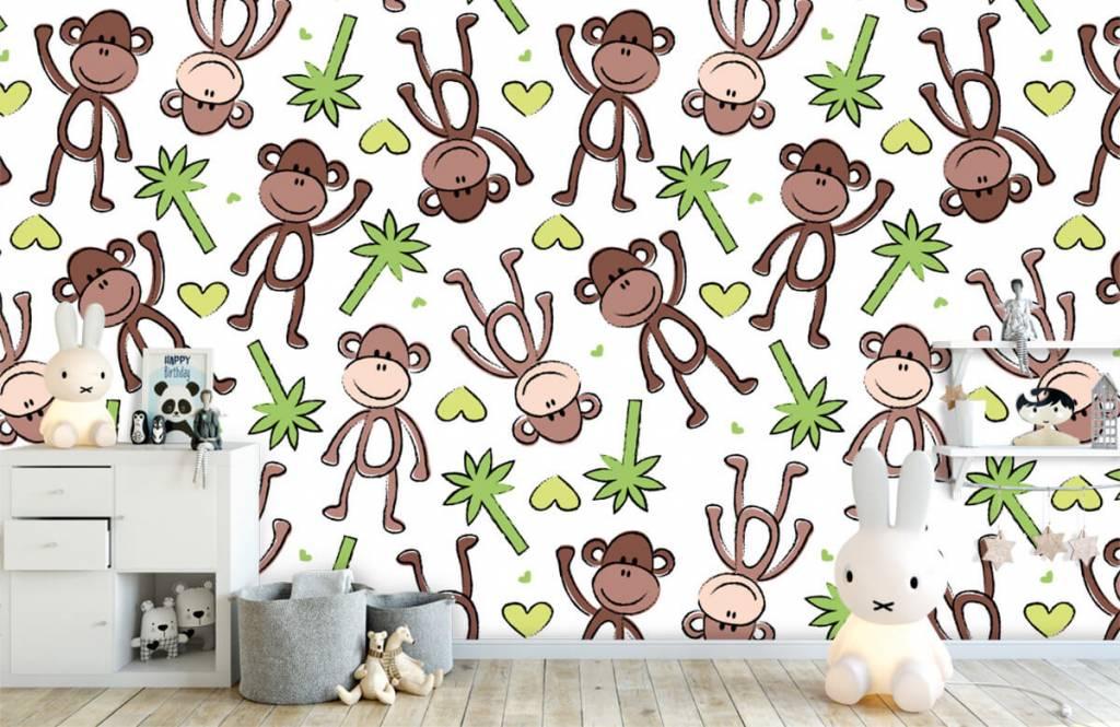 Wassertiere - Affen und Palmen - Kinderzimmer 5
