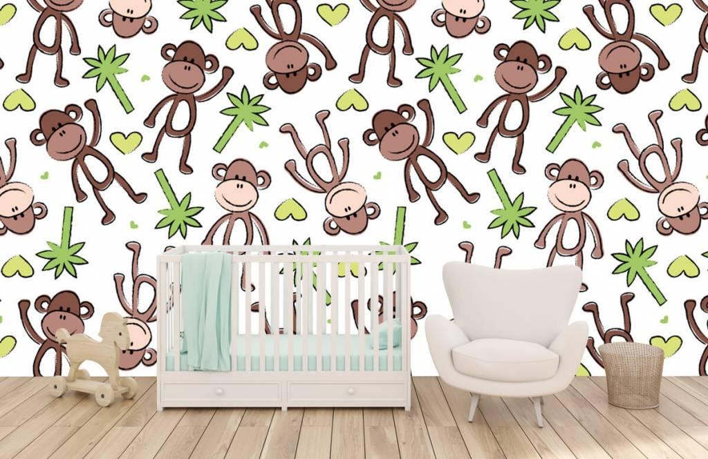 Wassertiere - Affen und Palmen - Kinderzimmer 6