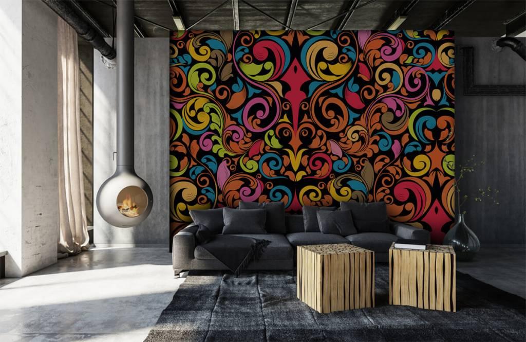 Abstrakte Tapete - Farbige Figuren - Küchen 2