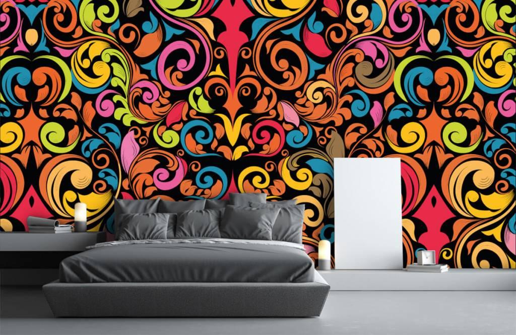 Abstrakte Tapete - Farbige Figuren - Küchen 3