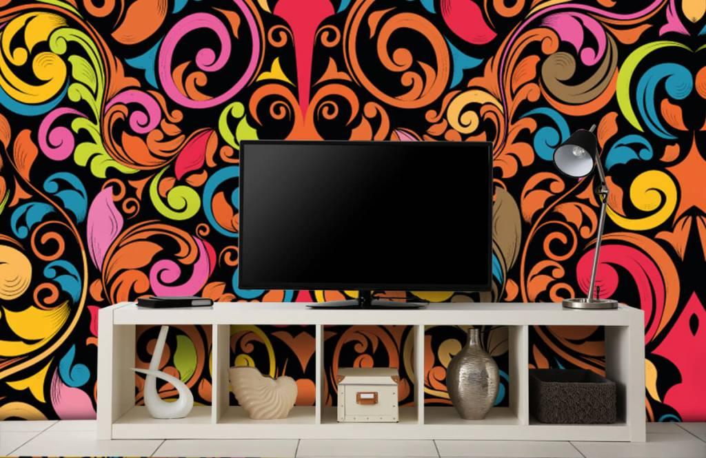 Abstrakte Tapete - Farbige Figuren - Küchen 5