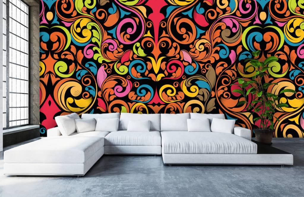 Abstrakte Tapete - Farbige Figuren - Küchen 6