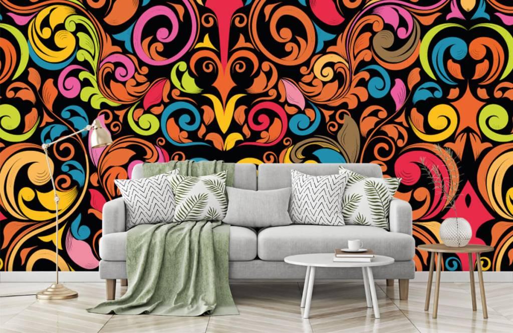Abstrakte Tapete - Farbige Figuren - Küchen 7