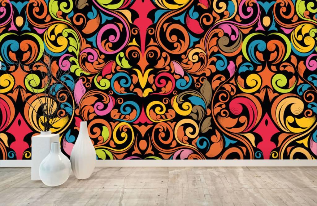 Abstrakte Tapete - Farbige Figuren - Küchen 8