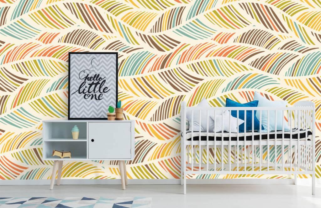Andere - Abstrakte Federn - Kinderzimmer 6