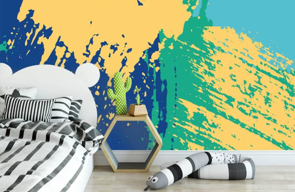 Abstrakte Tapete - Farbige abstrakte Flächen - Hobbyzimmer 2