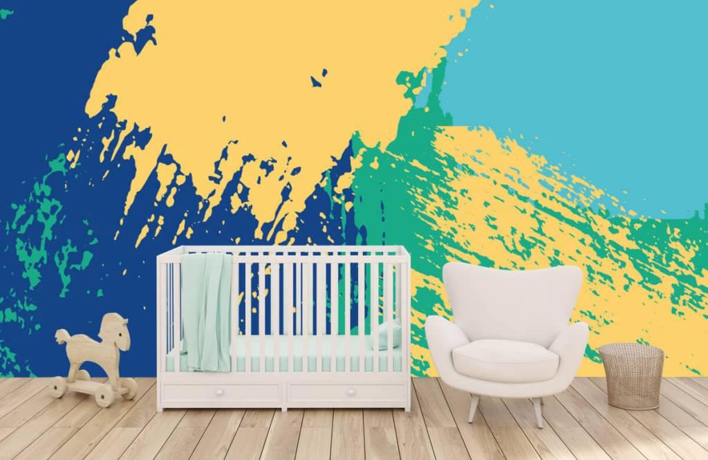 Abstrakte Tapete - Farbige abstrakte Flächen - Hobbyzimmer 5