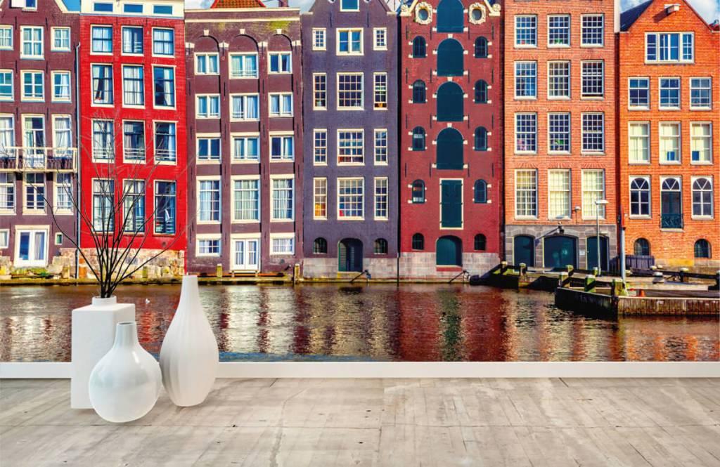 Städte-Tapete - Amsterdam Häuser - Schlafzimmer 1