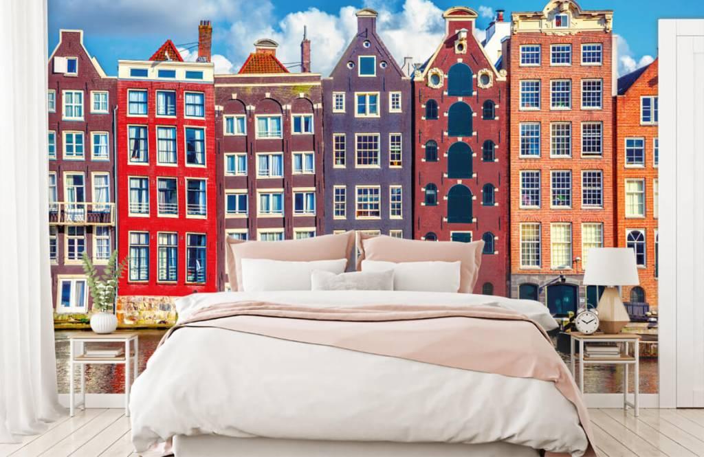 Städte-Tapete - Amsterdam Häuser - Schlafzimmer 2
