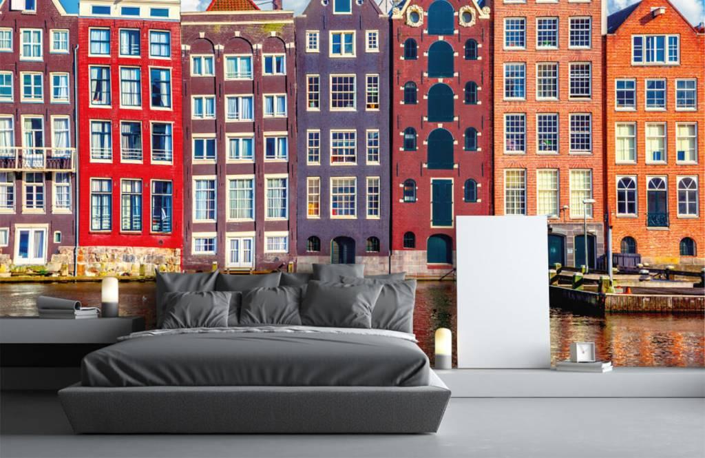 Städte-Tapete - Amsterdam Häuser - Schlafzimmer 3