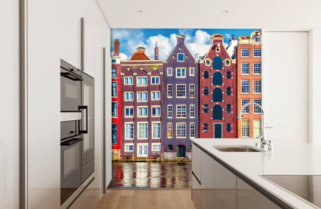 Städte-Tapete - Amsterdam Häuser - Schlafzimmer 4
