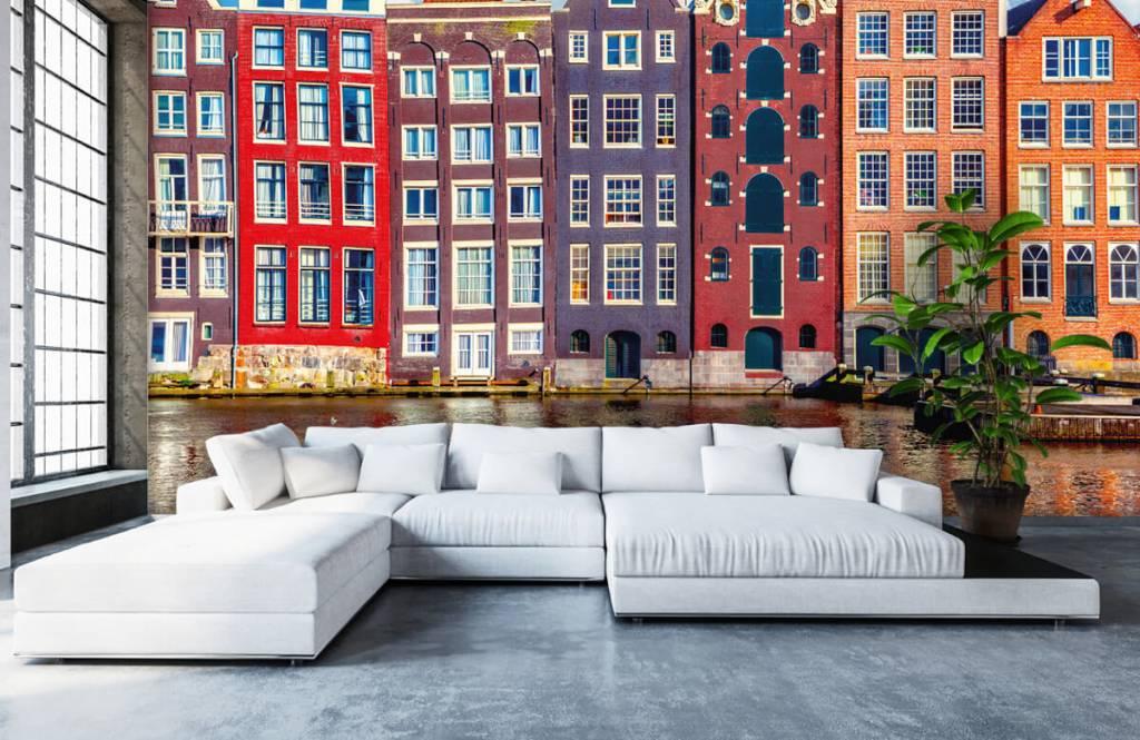 Städte-Tapete - Amsterdam Häuser - Schlafzimmer 6