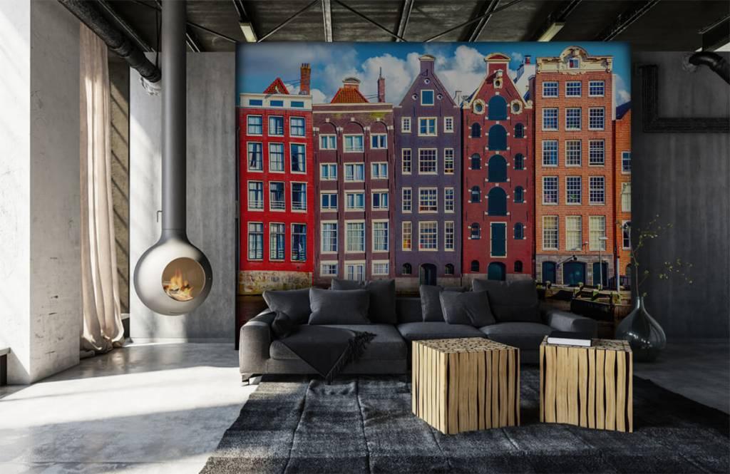 Städte-Tapete - Amsterdam Häuser - Schlafzimmer 7