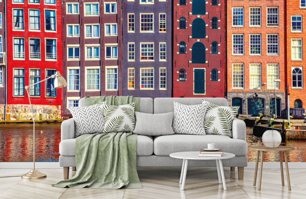 Städte-Tapete - Amsterdam Häuser - Schlafzimmer 8