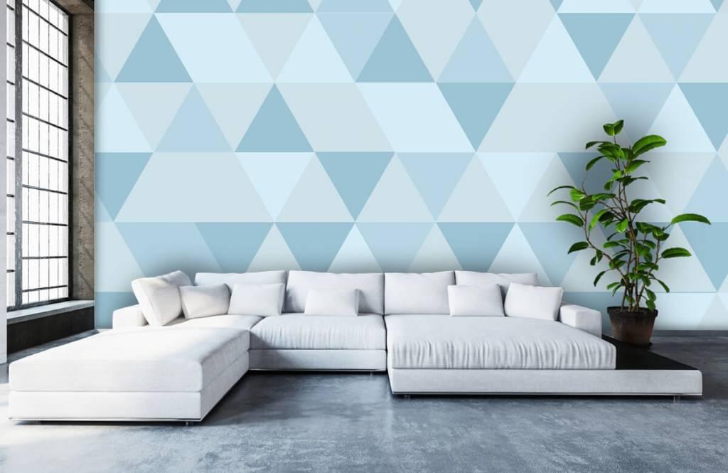Andere - Blaue Dreiecke - Kinderzimmer 5