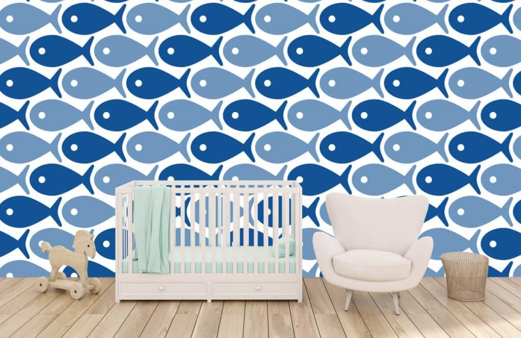 Wassertiere - Blaue Fische - Kinderzimmer 1