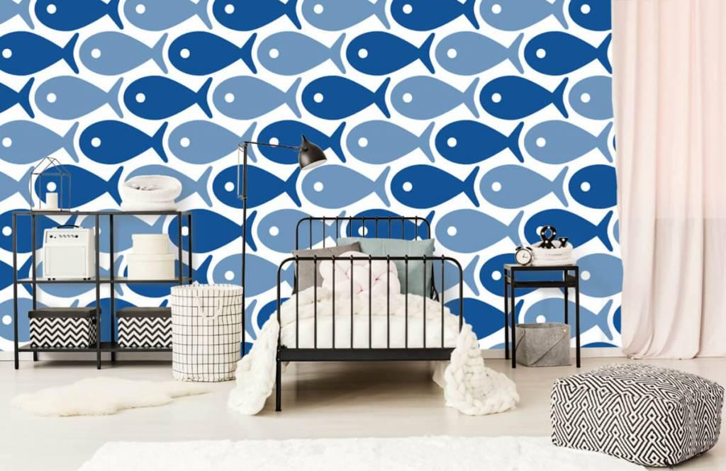 Wassertiere - Blaue Fische - Kinderzimmer 2