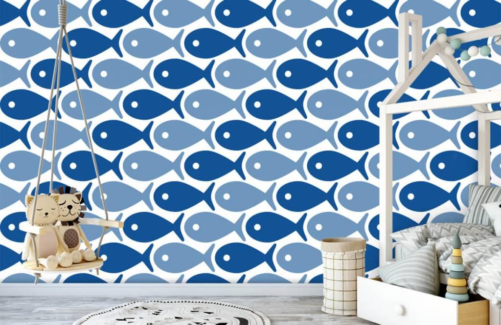 Wassertiere - Blaue Fische - Kinderzimmer 4