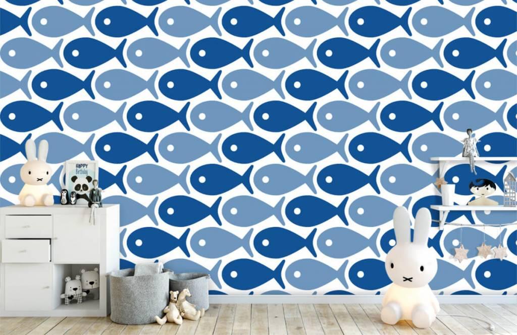 Wassertiere - Blaue Fische - Kinderzimmer 5